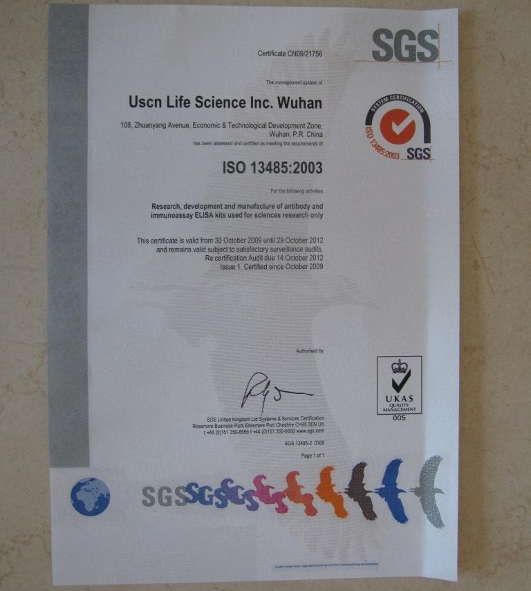 ISO 13485:2003《医疗器械质量管理体系》认证